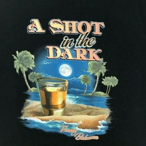 Tommy Bahama Black A Shot In The Dark T-Shirt Sz M